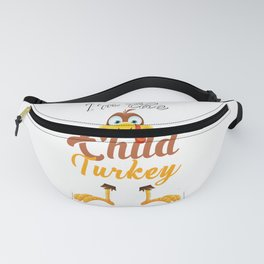 I am the Child Turkey Thanksgiving Matching Family Child Fanny Pack