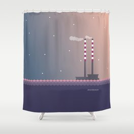 Poolbeg Dublin Shower Curtain