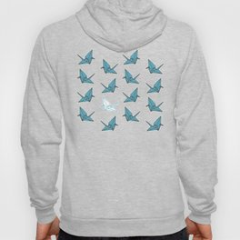 PAPER CRANES BABY BLUE AND YELLOW Hoody