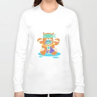 super hero Long Sleeve T-shirts featuring Super Hero 4 by La Lanterne
