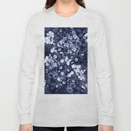 Bohemian Floral Nights in Navy Long Sleeve T-shirt