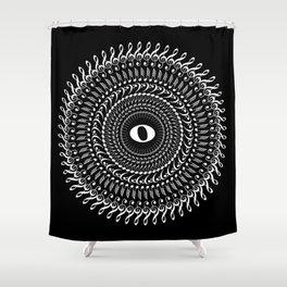 Music mandala no 2 - inverted Shower Curtain