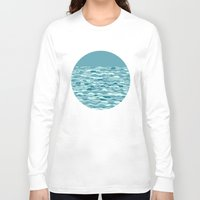 waves Long Sleeve T-shirts featuring Waves by Anita Ivancenko