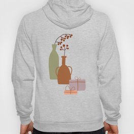 Christmas Winter Abstract Bohemian Vases, Christmas Gifts, Vintage Lovers Gift Hoody