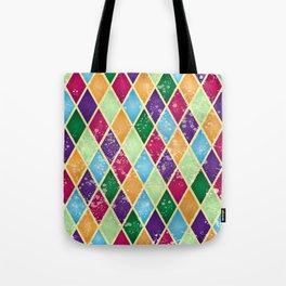 Rainbow harlequin Tote Bag