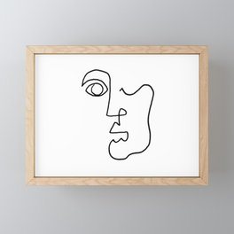 Facial Features Framed Mini Art Print