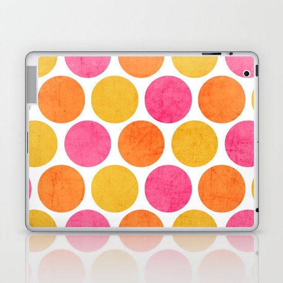 summer polka dots Laptop & iPad Skin