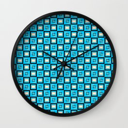 Pattern Cube Blue Wall Clock