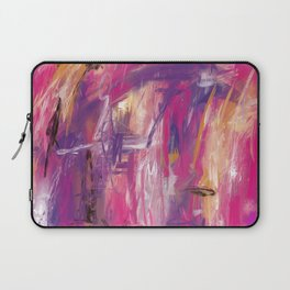 It is so Wavey Bright Pink Magenta Purple Handmade Abstract Laptop Sleeve