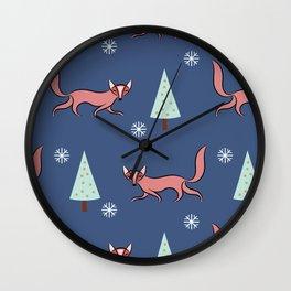 Fox #society6 #decor #buyart Wall Clock