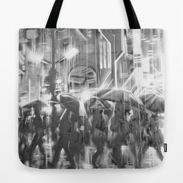 Rainy day in the city. Tote Bag