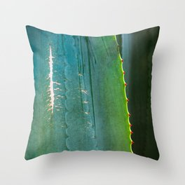 Scarred Succulent Throw Pillow