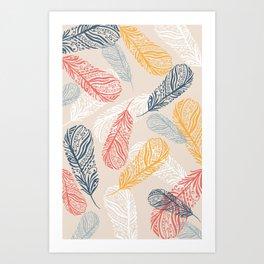 FeathersI Art Print