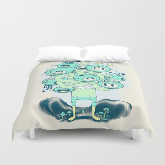 Many Heads are Better than None Duvet Cover