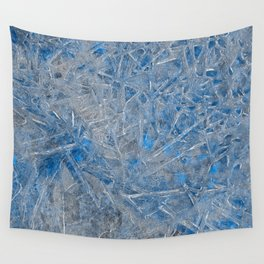 Blue Ice Texture Wall Tapestry