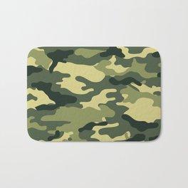 Green camouflage Bath Mat