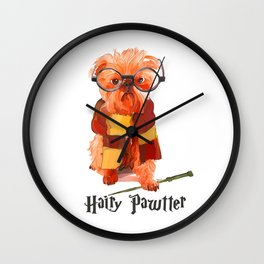 Hairy Pawtter Wall Clock