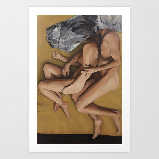Dual 2014 Oil on Canvas 130 x 200 cm Art Print