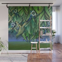 """Spring Forest of Surreal Leaf litter and flowers"" Wall Mural"