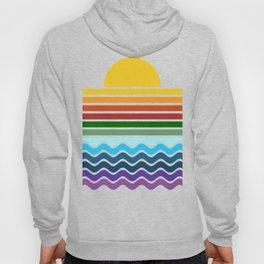 Geometric Rainbow Nature Hoody