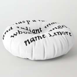Poe The Raven Lenore Quote Gothic Floor Pillow