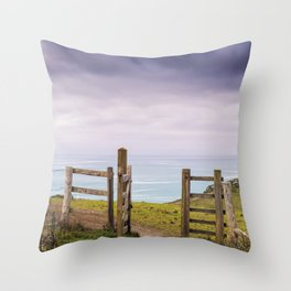Gateway to the Coast Throw Pillow