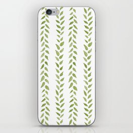 Matcha Greens - nature spring leaves green pattern iPhone Skin