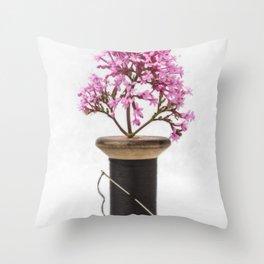Wooden Vase Throw Pillow