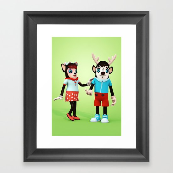 Ben and Mary my Deer! Framed Art Print