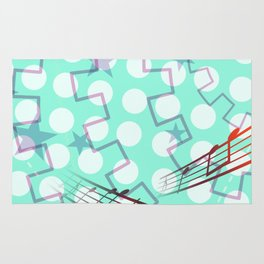 Abstract Polka Dot Rug