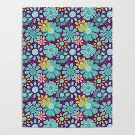Purple Flowered Poster