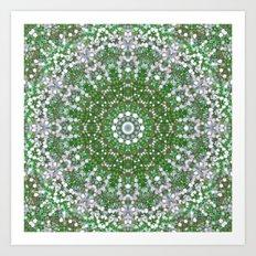 Her Mermaid Sea Kaleido Green Art Print