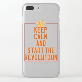This is the awesome revolutionary Tshirt Those who make peaceful revolution Start the revolution Clear iPhone Case
