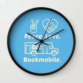 Peace Love Bookmoble Wall Clock