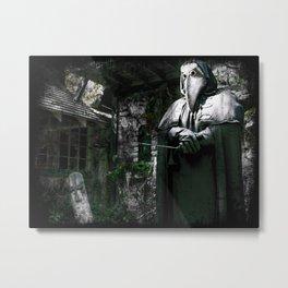 The Plague Doctor Metal Print