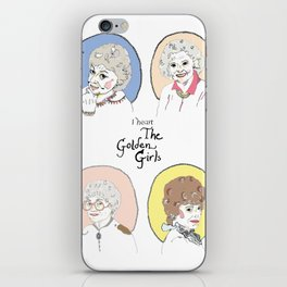 I Heart the Golden Girls Print iPhone Skin
