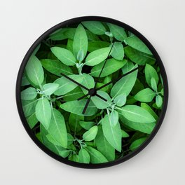 Velvet Sage in the Garden Wall Clock