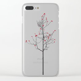 Twig Tree - Crimson Clear iPhone Case