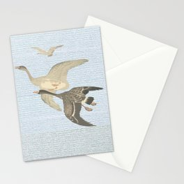 Nothing to match the flight of wild birds flying Stationery Cards