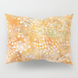 Monoprint 4 -- Yellow doily Pillow Sham
