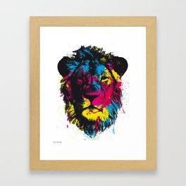 COLORED LION Framed Art Print