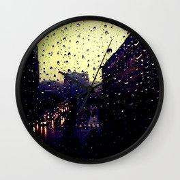 City Rain Wall Clock