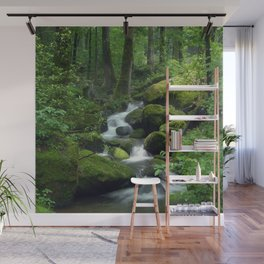 Summer Forest Brook Wall Mural