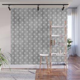 Grey & White Skulls Wall Mural