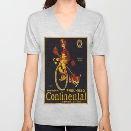Vintage poster - Continental Bicycles Unisex V-Neck