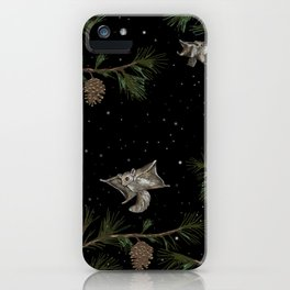 FLYING SQUIRRELS IN THE PINES iPhone Case