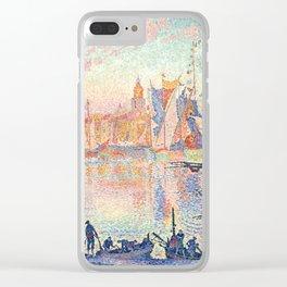 """Paul Signac """"The Port of Saint-Tropez"""" Clear iPhone Case"""