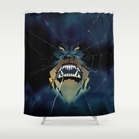 fierce Shower Curtains featuring Too Fierce by LoveSpud