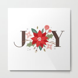 Joy Flourish - Pearl Metal Print