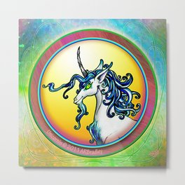 Unicorn Portrait Metal Print